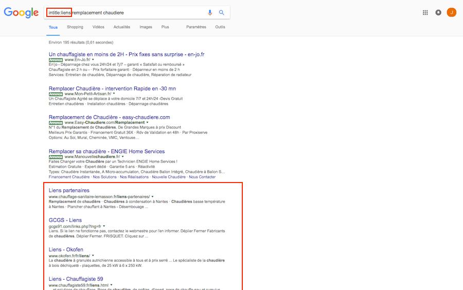 generer backlinks liens casses commandes google