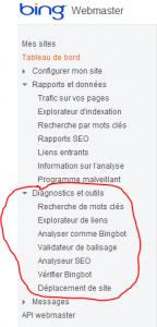 Bing diagnostic et outils